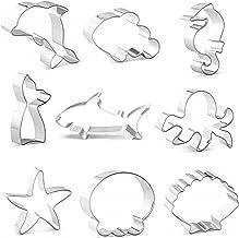 DEVIN0705 under the Sea Creatures Cookie Cutter Set- piece, Seastar, Seashell, Seahorse, Heim,shark,Octopus, fish tail,Dol...