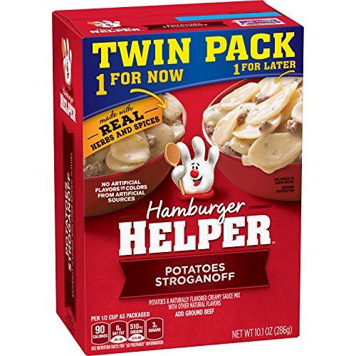 Betty Crocker Hamburger Helper, Potatoes Stroganoff Hamburger Helper, 10.1 Oz Box (Twin Pack)