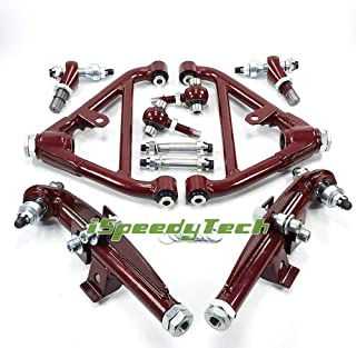 Ispeedytech Front Rear Lower Control Arms for Nissan S13 S14 S15 180SX 240SX Z32 300ZX Red