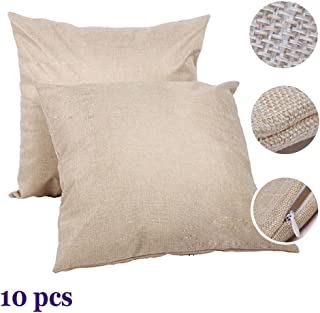 H-E Linen 3D Sublimation Blank Pillow Case Fashion Cushion Pillowcase Cover for Heat Press Printing Throw Pillow Covers (10pcs/Pack)