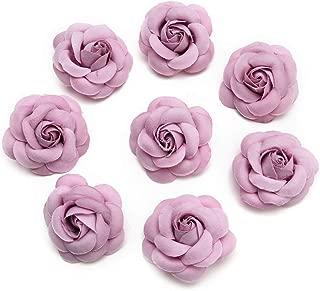 Silk Flower in Bulk Wholesale for Crafts Fake Flower Rose Head Silk Rose Bud Wedding Decoration DIY Party Festival Home Decor Wreath Headdress Accessories Clip Art Flower 20pcs 5cm (Pink)