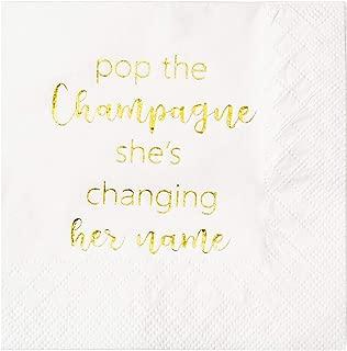 engagement cocktail napkins