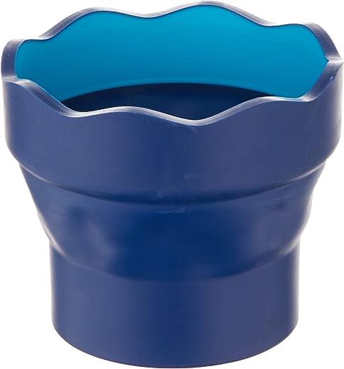 Faber-Castell 181510 – Wasserbecher CLIC & GO, faltbar, blau