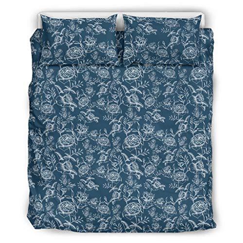 Bohohobo Ropa de cama flores patrón confort categorías patrón europeo color oscuro decorativo cama almohada conjunto blanco 229x229cm
