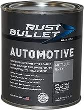 Rust Bullet RBA53 Automotive Rust Inhibitor Paint, 1 Quart Metal Can, Metallic Gray
