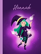 Hannah: Personalized composition Notebook for Hannah gift 120 Pages 8.5 x 11 in