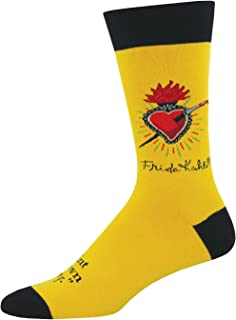 Socksmith Mens' Novelty Crew SocksFrida Heart - Butterscotch