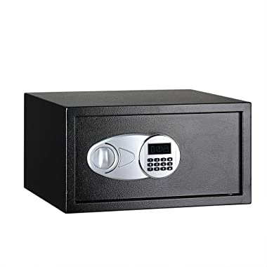 AmazonBasics Steel, Security Safe Lock Box, Black - 1 Cubic Feet