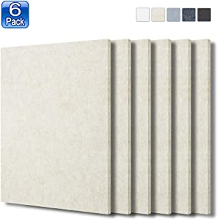 BXI Sound Absorber - 16 X 12 X 3/8 Inches 6 Pack High Density Acoustic Absorption Panel, Sound Absorbing Panels Reduce Echo Reverb, Tackable Acoustic Panels for Wall and Ceiling Acoustic Treatment