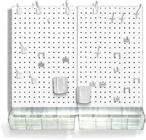 "Azar Displays 70-PIECE PEGBOARD ORGANIZER KIT (2-13.5"" X 22"")"