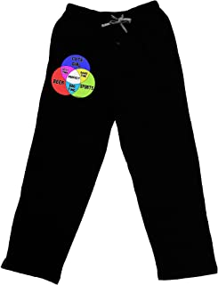 Beer Girl and Sports Diagram Adult Lounge Pants