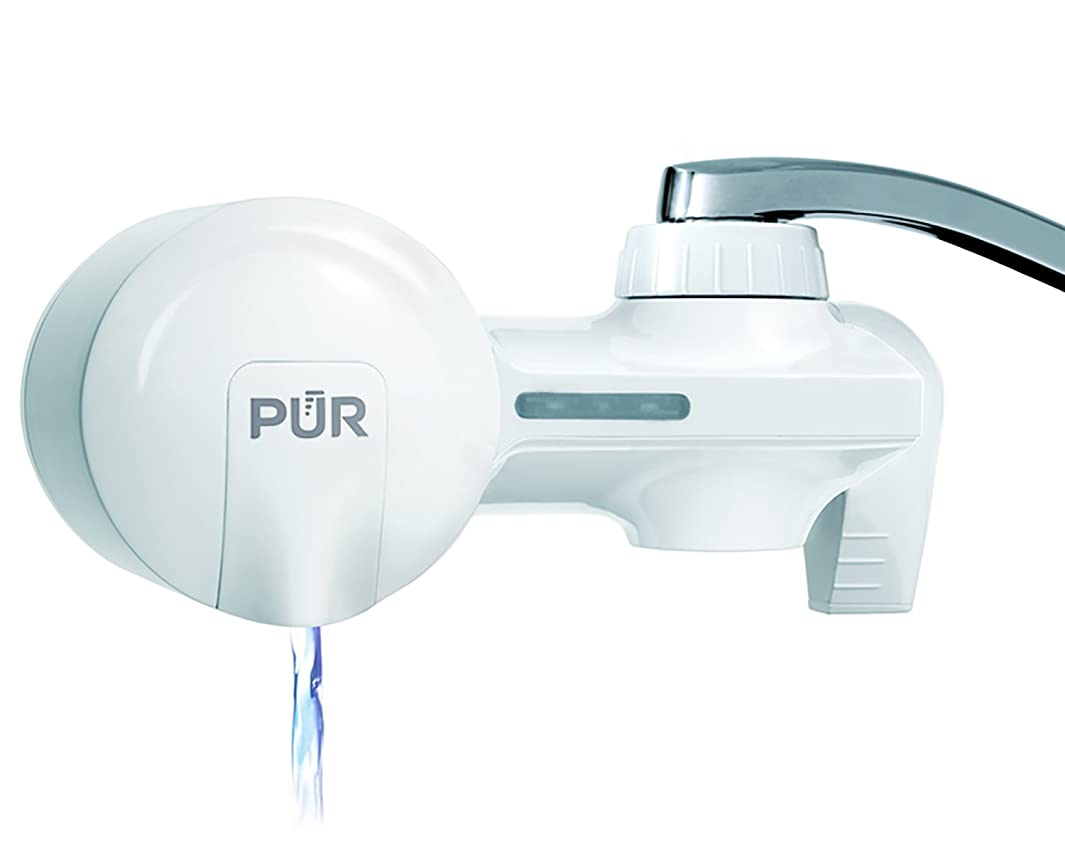 PUR PFM150W Filtration System White Horizontal Faucet Mount with 1 Basic Filter