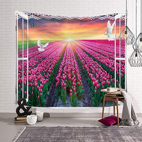 mmzki Nordic hängen Kunst Wandteppich Wandteppich Hauptdekoration Wandbild Fenster LS-CW0011 150x130