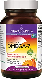 New Chapter Supercritical Omega 7 with Sea Buckthorn + Plant Sourced Fatty Acids + Omega 7 + Non-GMO Ingredients - 60 Vege...