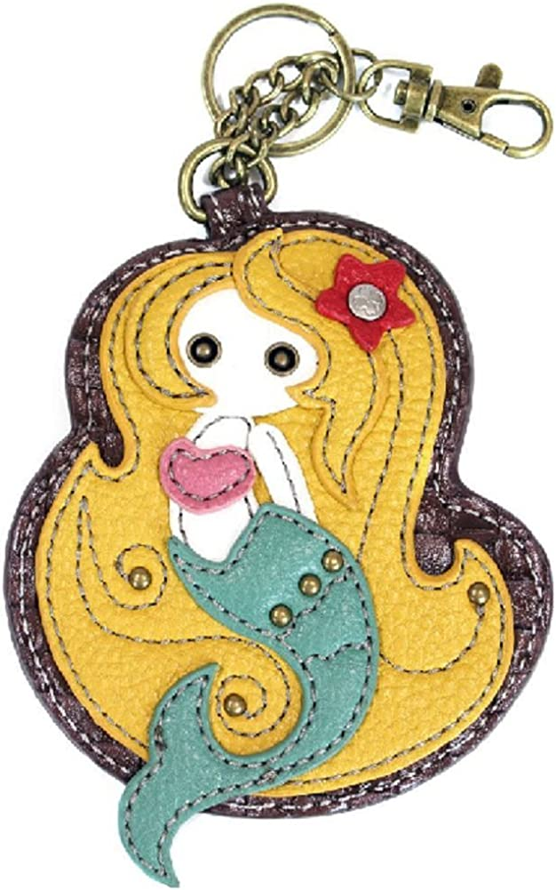 Chala Mystical Mermaid Cheap Financial sales sale mail order specialty store Key Chain Coin Bag Char Fob Purse Leather