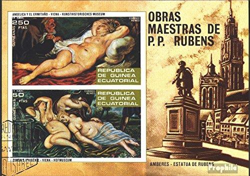 Prophila Collection Äquatorialguinea Block79 (kompl.Ausg.) 1973 Gemälde von Peter P. Rubens (Briefmarken für Sammler) Malerei