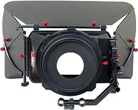 FILMCITY MB-7 Professional Matte Box Sunshade Lens Hood Top, Side Flags for Video DSLR 15mm Rail Rod Shoulder Support Foll...