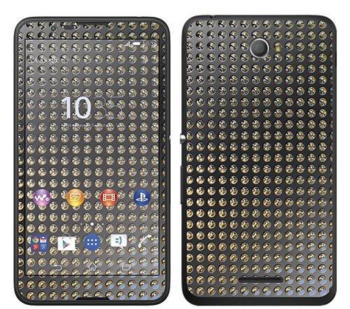 Royal Sticker RS.119986 Sticker voor Sony Xperia E4, motief reflectoren op metaal