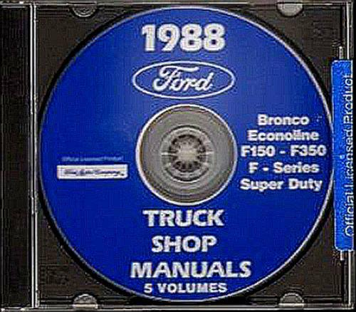 A MUST FOR OWNERS, MECHANICS & RESTORERS - THE 1988 FORD PICKUP TRUCK REPAIR...