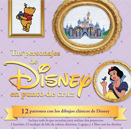 Kit Tus personajes de Disney en punto de cruz: 12 patrones con los dibujos clásicos de Disney (Kits Cúpula)