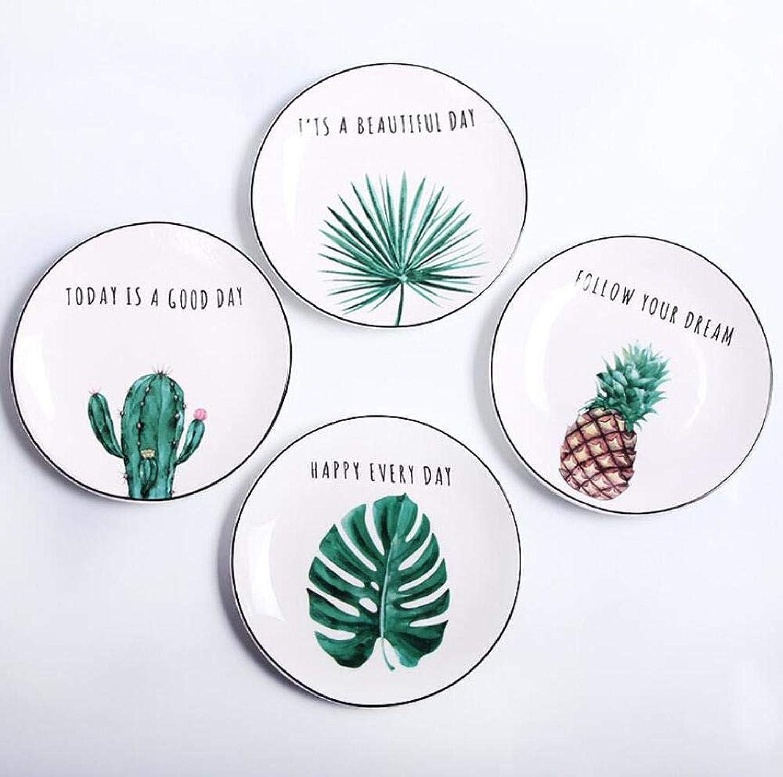 Plaños De Cena Vajilla Creativo Pia Cactus Plato Tropical Cerámica Plato Vajilla Plaños Vajilla Plaños Comida Occidental Plato De Porcelana 8 Pulgadas