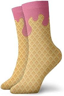 Warm-Breeze, Helado Divertido Novedad Calcetines cortos para hombre Calcetines deportivos casuales deportivos