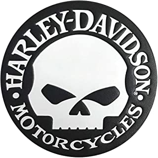 Harley-Davidson Genuine Willie G Skull Leather Emblem Patch, 3.75 in. HDEML1000