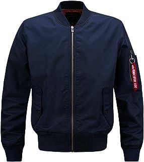 SANKE ミリタリージャケット メンズ MA-1 フライトジャケット スポーツ カジュアル アウター ブルゾン コート 薄手 9サイズ 秋 男性用
