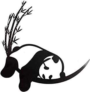 Wind & Weather Resting Panda and Bamboo Metal Wall Art