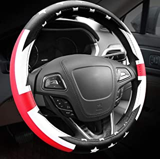 Carmen British Flag Union Jack Microfiber Leather Auto Car Steering Wheel Cover Universal 15 Inch