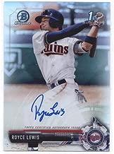 2017 Bowman Draft Chrome Autographs Refractors #CDA-RL Royce Lewis- Minnesota Twins MLB Baseball Card (Autographed) /499 NM-MT (Rookie Prospect Card)