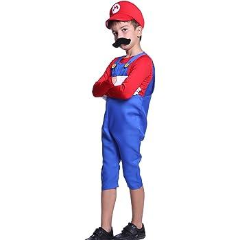 Anladia Disfraz de Mario Bros para niño Cosplay Dress Fiesta ...