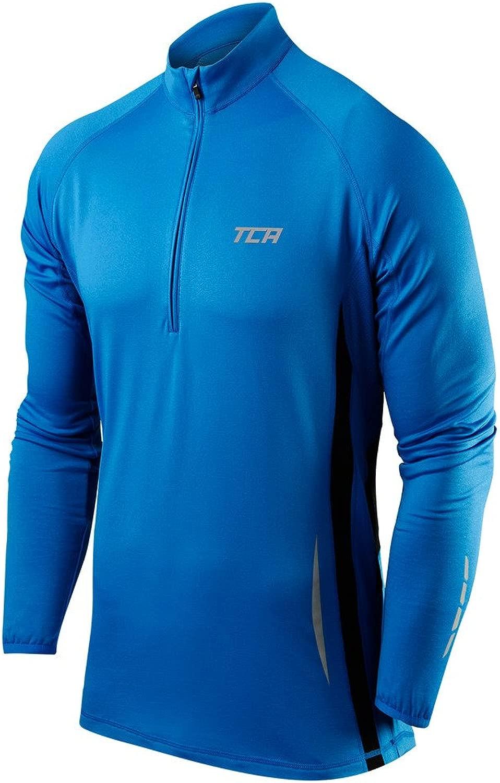 Thorogoodスポーツ冬実行メンズhalf-zip Long Sleeve Running Top