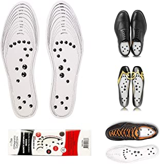 MindInsole Acupressure Magnetic Insoles for Women and Men Massage Foot Therapy Reflexology Pain Relief for feet can be Cut fits(M(4.5-12.5) W(6-14))