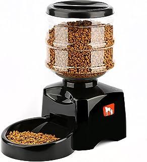 fc2ebf3b48ad LESHP Comedero Automático para Perros, Gatos y Mascotas, Dispensador de  Comidas, Grabación de
