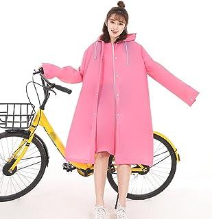 PENGFEI 女性 レインコートポンチョ 防水 日焼け止め ワンピース トレッキング ライディング 通気性のある 3色、 2サイズ (色 : Pink, サイズ さいず : L l)