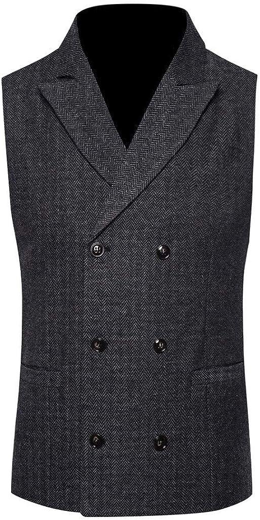 Men's Waistcoat Vintage Formal Casual Business Tuxedo Suit Vest