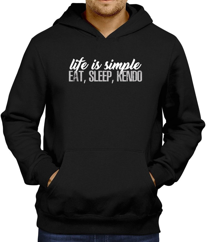 8ff90f0f Site Athletics Life is simple eat sleep Kendo Hoodie Hoodie Hoodie b09f47