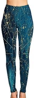 Cyloten Universe Nebula Galaxy Starry Yoga Pants Washable Legging Tights Quick Dry Sportswear for Women Girl Workout
