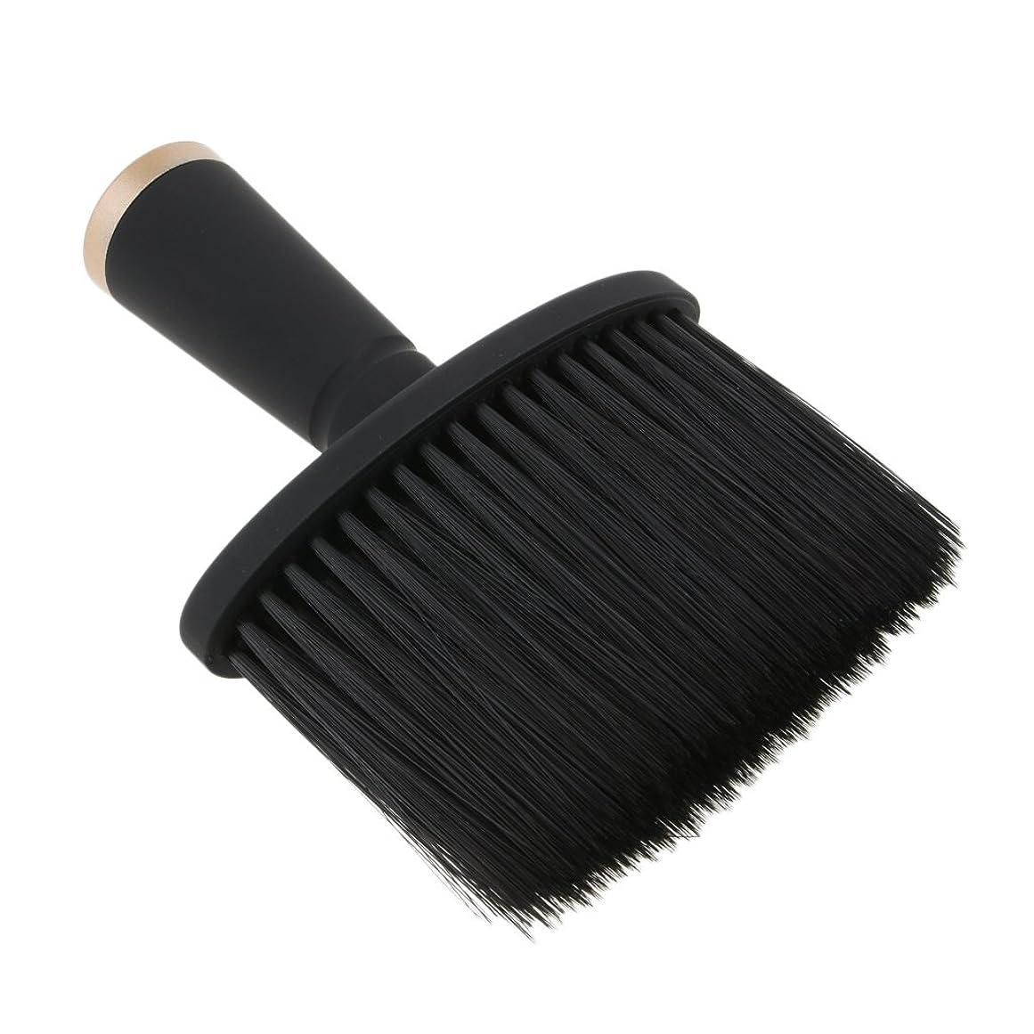 市民ビリーヤギパラシュートKesoto ネックダスターブラシ ヘアカット ヘアブラシ ソフト サロン ヘアスタイリスト 理髪 全2色 - ゴールド