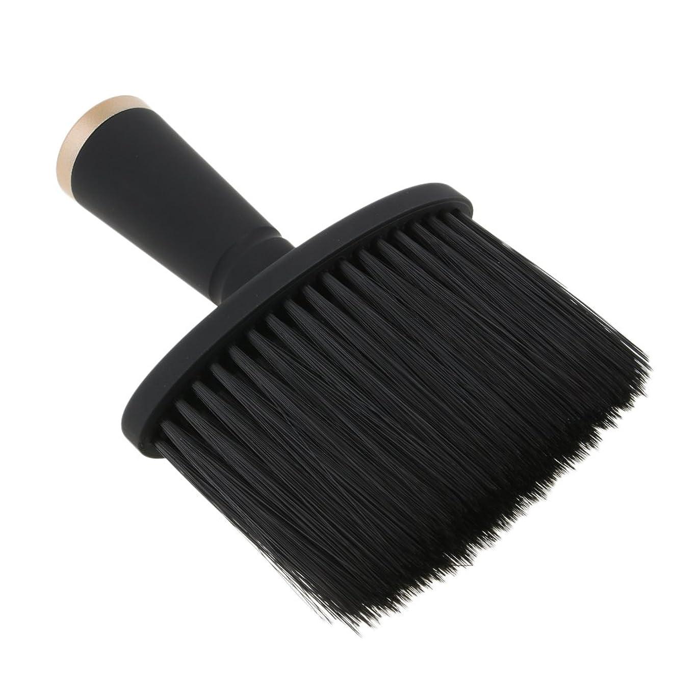 初期のピッチャー数字Kesoto ネックダスターブラシ ヘアカット ヘアブラシ ソフト サロン ヘアスタイリスト 理髪 全2色 - ゴールド