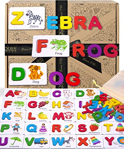 Jaques of London Juego de Letras y ortografía Juguete Educativo Ideal, Juguete de introducción al Alfabeto para niños - Rompecabezas de Madera 1795