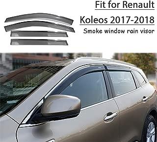 Set 4 Déflecteurs de vent pluie air teintées pour Renault Koleos I 2007-2016