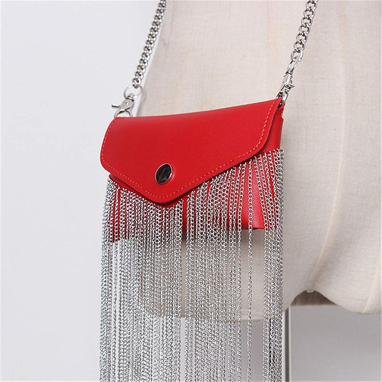 GSHISHANGWBAG Women Waist Bag Metal Tassel Belt Bags Fanny Pack Belt Chain Hip Hop Waist Pack Phone Shoulder Bag