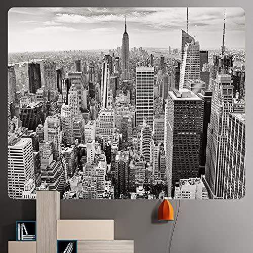 PPOU Ciudad próspera Nueva York tapices de Tela de Fondo de Arte para el hogar Manta Decorativa Bohemia para Colgar en la Pared A6 130x150cm