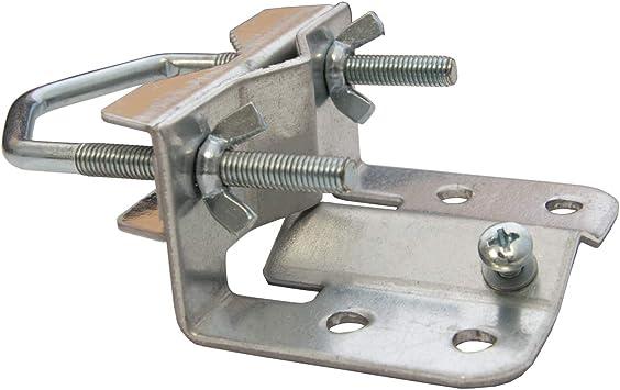 PremiumX base de mástil 20-60 mm para mástil de antena, mástil de satélite abrazadera de pie de mastil con abrazadera de diente