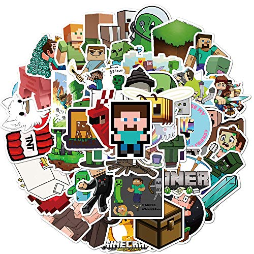 WWJIE Adventure game Minecraft cartoon stickers mobile phone case skateboard suitcase laptop electric car stickers 50 sheets