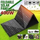 HIGHKAS Paquete Plegable células solares monocristalinas Panel Solar 18V 400W con Cables 1.5m + Interfaz USB DC Set para Trabajo al Aire Libre