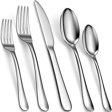 Tribal Cooking Silverware Set - Stainless Steel Flatware, Utensil, Cutlery Set - Silverware Sets - Knives, Fork and Spoon Set