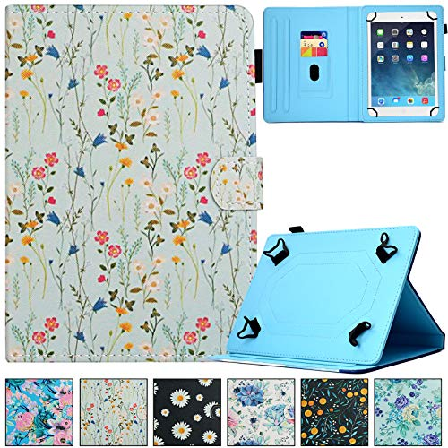 Universal 8.0' Tablet Case, Artyond PU Leather Multi-Angle Stand Card Slot Case for iPad Mini 1 2 3 4 5/Galaxy Tab E 8.0/ Tab A 8.0/ Fire HD 8/Android and More 7.5-8.5 inch Tablet (Small Floral)